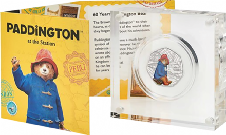2018 Paddington Coloured Silver proof 50p from the Royal Mint